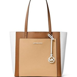 NWT Michael Kors Gemma Large Leather Tote Bag NEW